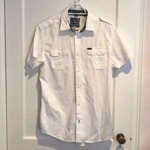 Buffalo David Bitton half sleeve white  shirt.